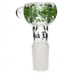 Glass Bowl Massive Hole SG19 (Black Leaf) Green
