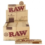 Raw Organic Connoisseur King Size Slim & Tips Display (24 pcs)