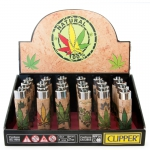 Lighter Natural Sleeve Cannabis (Clipper) Display (24 pcs)