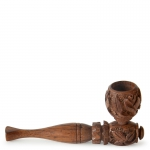 Rosewood Pipe Carved 11cm