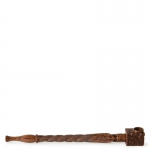 Rosewood Pipe Carved 21cm