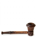 Rosewood Pipe Carved 9cm