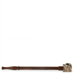 Rosewood Pipe with Stone Bowl 21cm