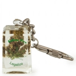 Acrylic Keyring With Weed