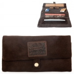 Leather Rolling Pouch (Kavatza) Brownie (Suede Brown)
