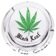 Ashtray Glass 160mm (Black Leaf) Black Leaf Logo